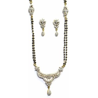 Jewelshingar Cubic Zirconia Mangalsutra Set For Women (7921-p2)