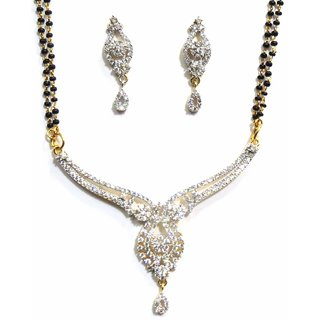Jewelshingar Cubic Zirconia Mangalsutra Set For Women (7934-p2)
