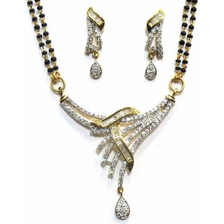Jewelshingar Cubic Zirconia Mangalsutra Set For Women (7944-p2)
