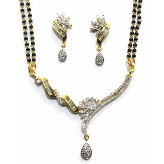 Jewelshingar Cubic Zirconia Mangalsutra Set For Women (7947-p2)