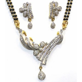 Jewelshingar Cubic Zirconia Mangalsutra Set For Women (7951-p2)