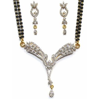 Jewelshingar Cubic Zirconia Mangalsutra Set For Women (7953-p2)