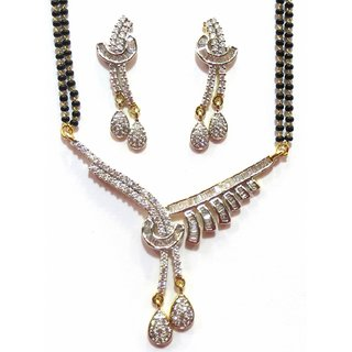 Jewelshingar Cubic Zirconia Mangalsutra Set For Women (7956-p2)