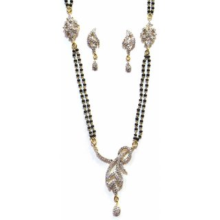 Jewelshingar Cubic Zirconia Mangalsutra Set For Women (7960-p2)