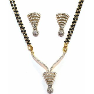 Jewelshingar Cubic Zirconia Mangalsutra Set For Women (7963-p2)
