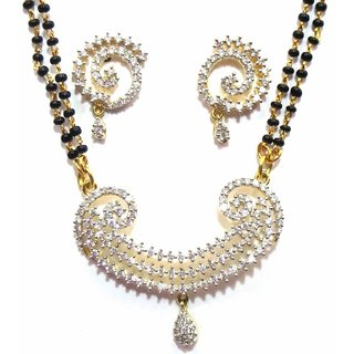 Jewelshingar Cubic Zirconia Mangalsutra Set For Women (7968-p2)