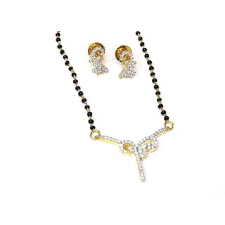 Jewelshingar Cubic Zirconia Mangalsutra Set For Women (910-p2)