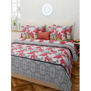 Desi Connection  Floral Cotton Double Bed Sheet(4329)