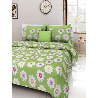 Desi Connection  Floral Cotton Double Bed Sheet(4331)