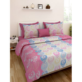 Desi Connection  Printed Cotton Double Bed Sheet(4336)