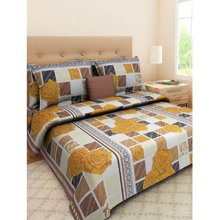 Desi Connection  Printed Cotton Double Bed Sheet(4337)
