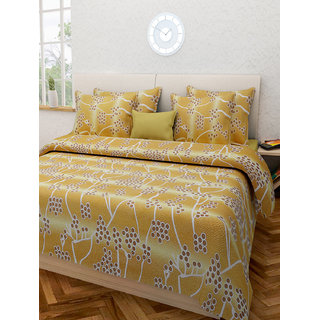 Desi Connection  Printed Cotton Double Bed Sheet(4339)
