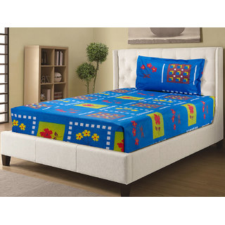 Desi Connection Printed Cotton Single Bed Sheets(S-20160)