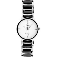 Elios Royal Black and Silver Watch for Men