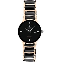 Elios Royal Black and Gold Watch for Men