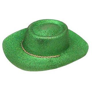 Glitter Cowboy Party Hat - Green