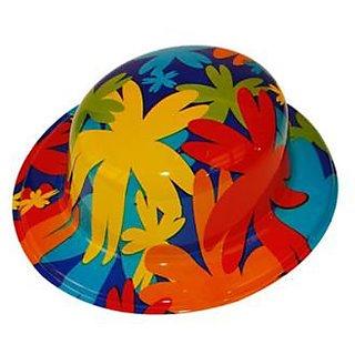 Plastic Party Hat Floral