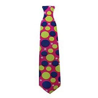 Neon Polka Dot Print Tie