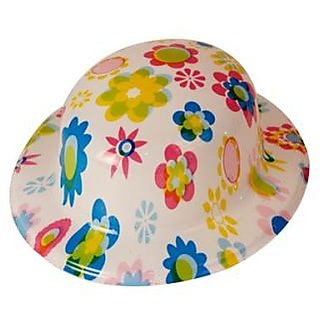 Plastic Party Hat Flowery