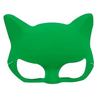 Plain Neon Cat Mask Green