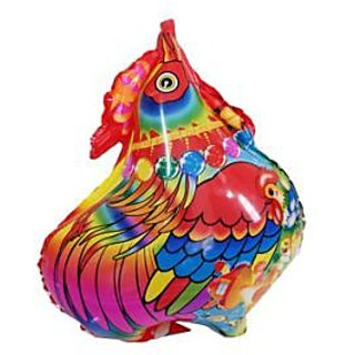 Hen Shaped Foil Balloon - Red