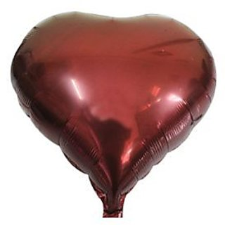 Heart Shaped Foil Balloon - Brown