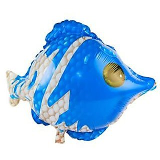 Blue And White Fish Foil Balloon