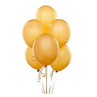 Beige Metallic Balloons - A Pack Of 25