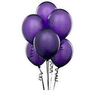 Purple Metallic Balloons - A Pack Of 25