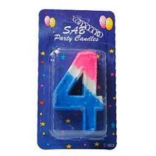 Number Candle 4 - Multicolor
