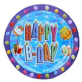 Happy Birthday Plate - Blue
