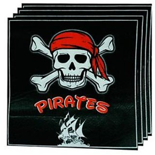 Pirate Napkin - Black