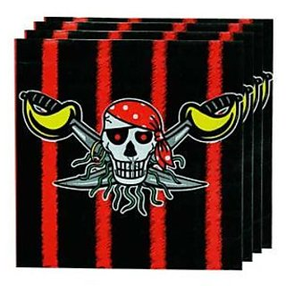 Pirate Napkin - Red
