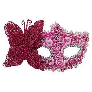 Venetian Eye Mask - Pink