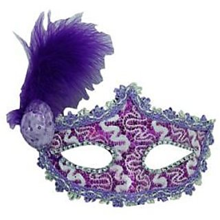 Eye Mask With Small Hat- Purple