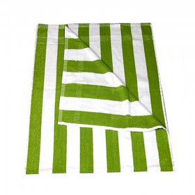 KUNDAN COTTON STRIPE GREEN WHITE 1 PIECE BATH TOWEL