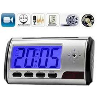 HIDDEN SPY CLOCK CAMERA ALARM MINI NANNY CAMERA