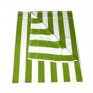 KUNDAN COTTON STRIPE GREEN WHITE 1 PIECE BATH TOWEL