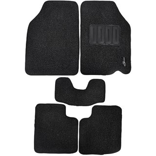 Leganza Premium Custom-fitted Black Car Floor Mats for Maruti Wagon R