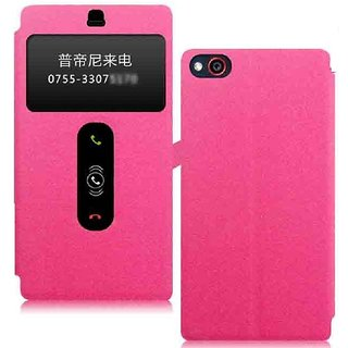 Heartly Goldsand Sparkle Luxury Pu Leather Window Flip Stand Back Case Cover For Lenovo A6000 A6000+