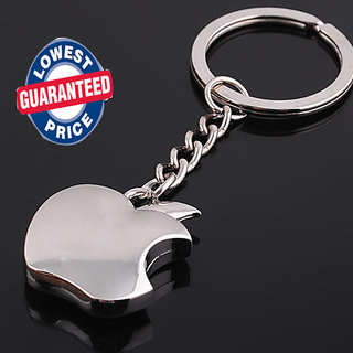 (Set Of 2) Apple Shaped Metallic Key Chain