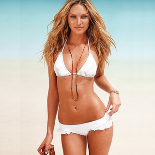 Sexy Charming Hot Seductive Halter Ruffle Swimwear White Bikini Set