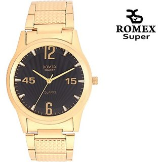 Gold Platted Analog Watch - For Men, Boys