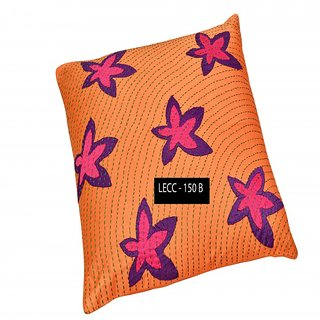 Legacy Exim 100 %Handmade Designer Cotton-Silk Cushion cover