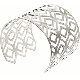 Adornia Silver Metallic Hand cuff