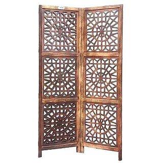 Shilpi Wooden Parion Mango Wood Room Divider Screen