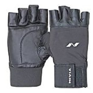 NIVIA GYM GLOVES WITH WRIST BAND 890 (LARGE)