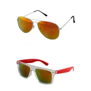 Derry Combo Aviator And Wayfarer with mirror lens golden color-DCOM059