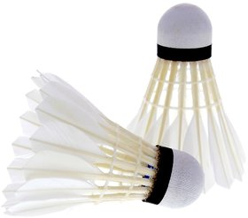 Feather Shuttlecock White (Pack of 10)