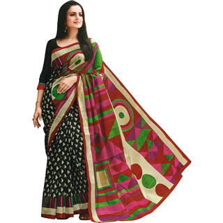 Parchayee Multicolor Art Silk Printed Saree With Blouse